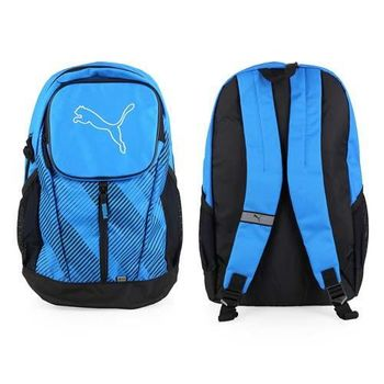 【PUMA】ECHO 後背包 -雙肩包 登山 旅行包 藍白