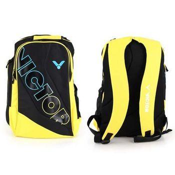 【VICTOR】後背包 -羽球包 雙肩包 登山 旅行包 勝利 黑黃藍