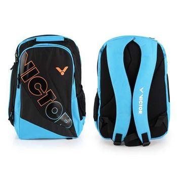 【VICTOR】後背包 -羽球包 雙肩包 登山 旅行包 勝利 黑水藍橘