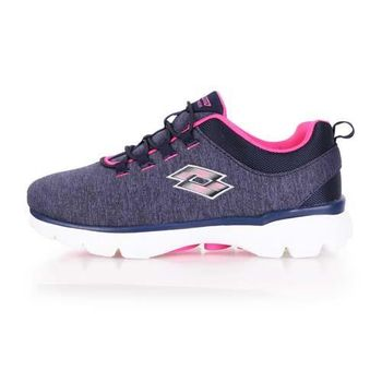 【LOTTO】女健體步行跑鞋 -慢跑 健身 丈青粉