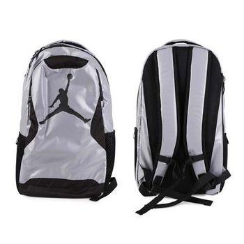 【NIKE】JORDAN TRAINING DAY後背包-喬丹 雙肩包 18吋筆電 灰黑