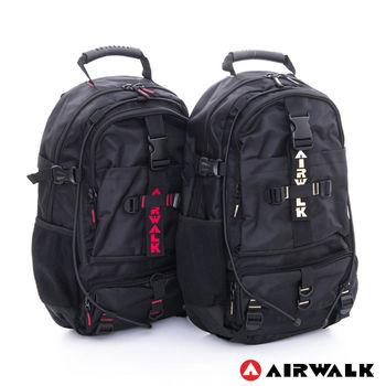 【美國 AIRWALK】都市拳擊手 蛋型多功能調節式運動筆電後背包 - 共二色