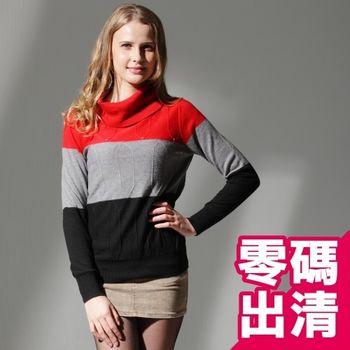【KIINO】立體織紋翻領針織毛衣(紅3822-1059-03)