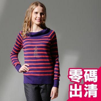 【KIINO】韓風翻領針織羊毛衫(紫色 3822-1048-06)