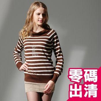 【KIINO】韓風翻領針織羊毛衫(咖啡 3822-1048-08)