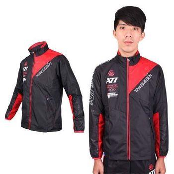 【ASICS】男A77風衣外套- 立領 防風 慢跑 路跑 亞瑟士 黑紅白