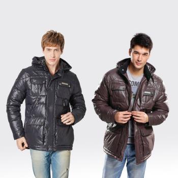 【SAMLIX山力士】JIS90%羽絨防潑水保暖外套#63711