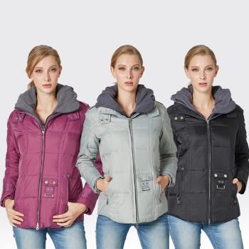 【SAMLIX山力士】JIS90%羽絨假兩件式防潑水保暖外套#321