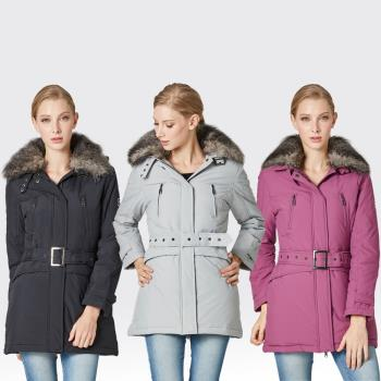 【SAMLIX山力士】JIS90%羽絨羅紋下擺可拆防潑水保暖外套#34811