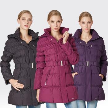【SAMLIX山力士】JIS90%羽絨羅紋下擺可拆防潑水保暖外套#38912