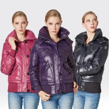 【SAMLIX山力士】JIS90%羽絨羅紋下擺可拆防潑水保暖外套#34211