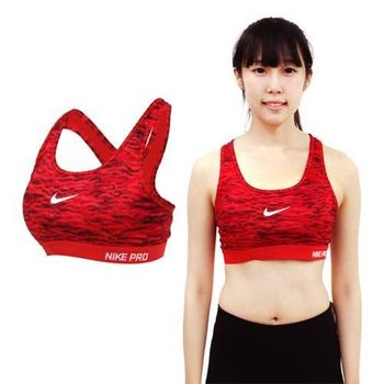 【NIKE】女運動背心 -慢跑 路跑 運動內衣 健身 橘白黑