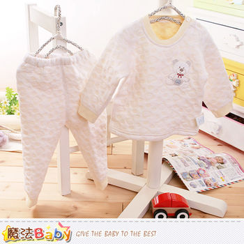 魔法Baby 寶寶居家套裝 專櫃款超厚三層棉極暖睡衣套裝~k60191