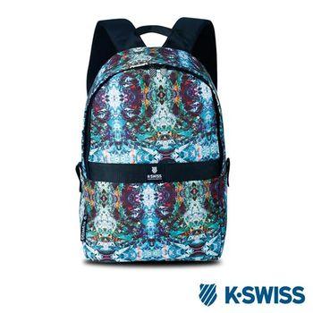 K-Swiss A/O Printed Backpack休閒後背包-綠印花