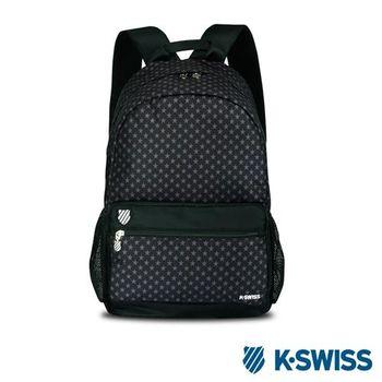 K-Swiss Allover Star Printted Backpack休閒後背包-黑
