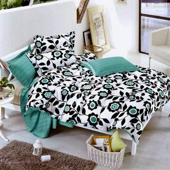 【卡莎蘭】芬芳絮語 雙人純棉四件式二用被床包組