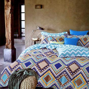 【卡莎蘭】千百度 雙人純棉四件式二用被床包組
