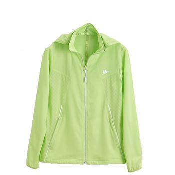KAPPA義大利時尚女平織慢跑風衣(可拆帽 )-嫩芽綠FC62-C835-47