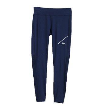 KAPPA義大利 舒適時尚女慢跑KOOL DRY緊身褲(合身尺寸)1件 丈青FD62-Y007-3