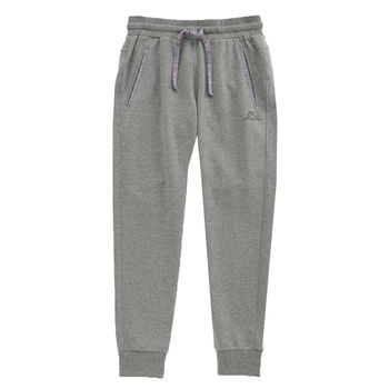 KAPPA義大利 舒適尚女針織慢跑長褲-灰 亮萄紫FD56-J803-7
