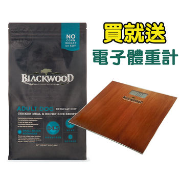 【BlackWood】柏萊富 特調成犬活力(雞肉+米) 30磅 X 1包 送電子體重計