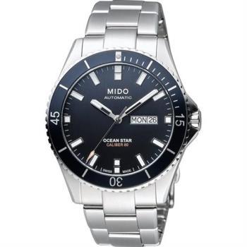 MIDO 美度 Ocean Star Caliber 80 200m潛水機械腕錶-黑x銀 M0264301105100