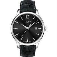 TISSOT Tradition 大三針石英腕錶~灰 42mm T063610160870