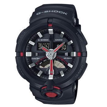 CASIO 卡西歐 G-SHOCK 公路車齒輪概念設計腕錶/48.9mm/GA-500-1A4