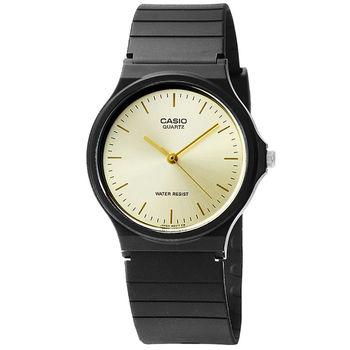 CASIO 卡西歐薄型石英錶-金 / MQ-24-9E (原廠公司貨)