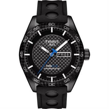 TISSOT PRS516 時尚機械腕錶-黑/42mm T1004303720100