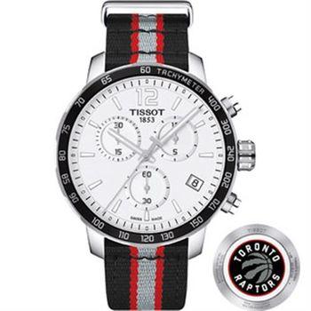 TISSOT 天梭 X NBA 暴龍隊計時特別版腕錶-42mm T0954171703716