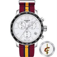 TISSOT 天梭 X NBA 騎士隊計時特別版腕錶 ^#45 42mm T0954171
