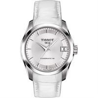 TISSOT 天梭 建構師 Powermatic 80 機械女錶~銀x白 32mm T03
