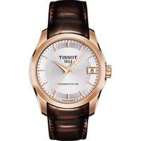 TISSOT 天梭 建構師 Powermatic 80 機械女錶 ^#45 銀x咖啡 ^#