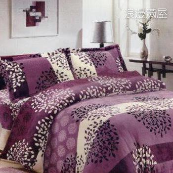 【韋恩寢具】搖粒絨被套床包組-雙人/浪漫滿屋