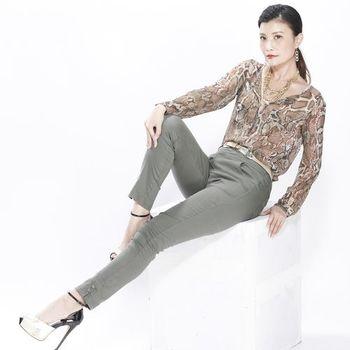 蘭陵棉緞休閒修身顯瘦西褲組-獨