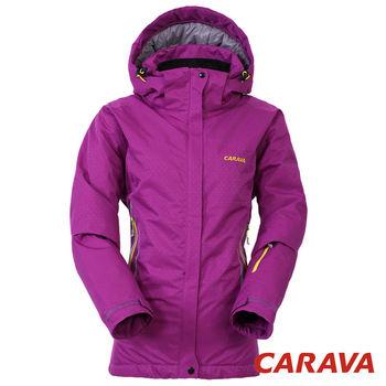 CARAVA 《女款防水透氣禦寒外套 》(深紫紅)  實用型高山滑雪服 高防水高性能面料