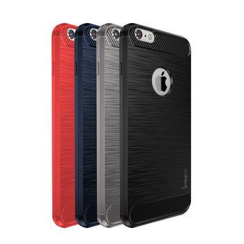【iPAKY】Apple iPhone 6/6S Plus 拉絲矽膠套