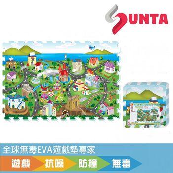 《SUNTA拼接樂扣墊》濱海小鎮EVA樂扣遊戲墊-32*32*1cm(6片裝)