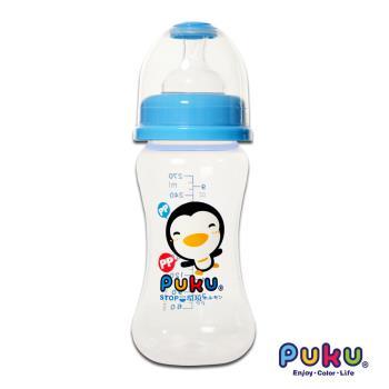 PUKU藍色企鵝 - 寬口PP奶瓶270cc(水色)