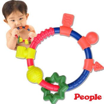 【日本People】新環狀手搖鈴咬舔玩具