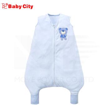 娃娃城-Babycity 負離子背心防踢睡袍/藍