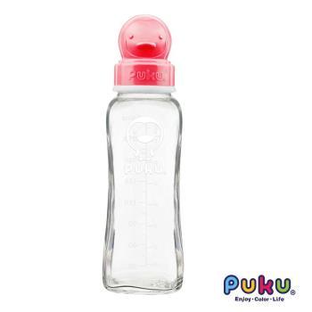 PUKU藍色企鵝 - 卡哇伊玻璃奶瓶-240cc(粉色)