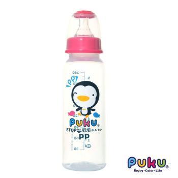 PUKU藍色企鵝 - 標準PP奶瓶240cc(粉色)