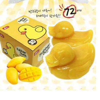 【韓國nono】小黃鴨3D軟糖-芒果口味1盒(72小顆/盒)
