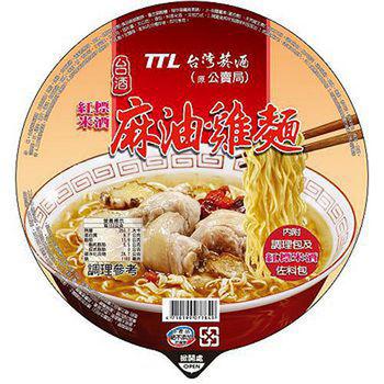 【台酒TTL】麻油雞碗麵200g*12入