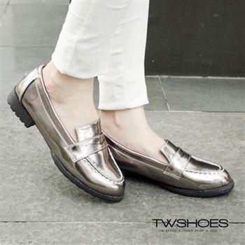 【TOMO】英倫學院風尖頭低跟樂福鞋【K160B2665】