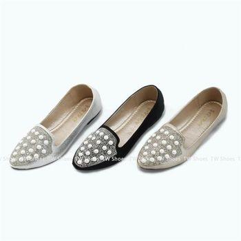 【TOMO】珍珠水鑽尖頭包鞋(K120B2739)