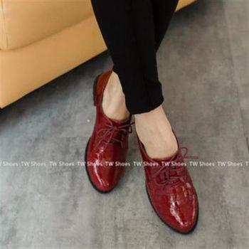 【TOMO】雅痞紳士鱷魚紋尖頭牛津鞋(K160B2851)