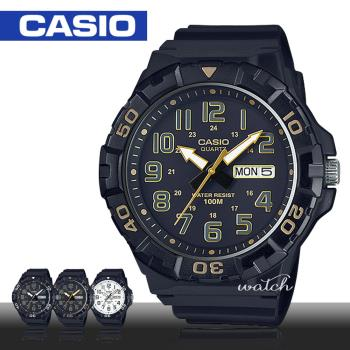 【CASIO 卡西歐】運動首選_定時器檔板_防水_日期顯示_男錶(MRW-210H)